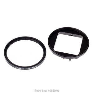 Image 4 - For Gopro 4/3+ Filter 52mm Close up +10 Macro Lens Adapter Ring for gopro Hero 4/3+/3 waterproof case  Glass Accessories