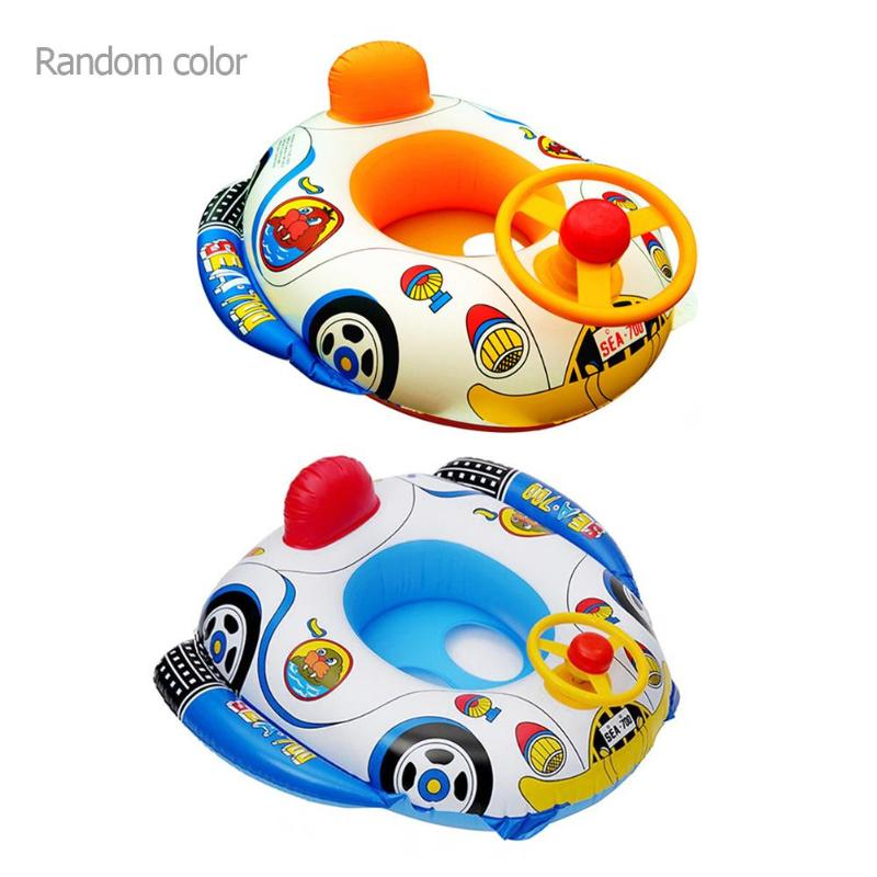 Inflatable Seat Swim Pool Aid Trainer Beach Float Boat Summer Water Funny Swim Toy Children Bathing Inflatable Water Drink Cup