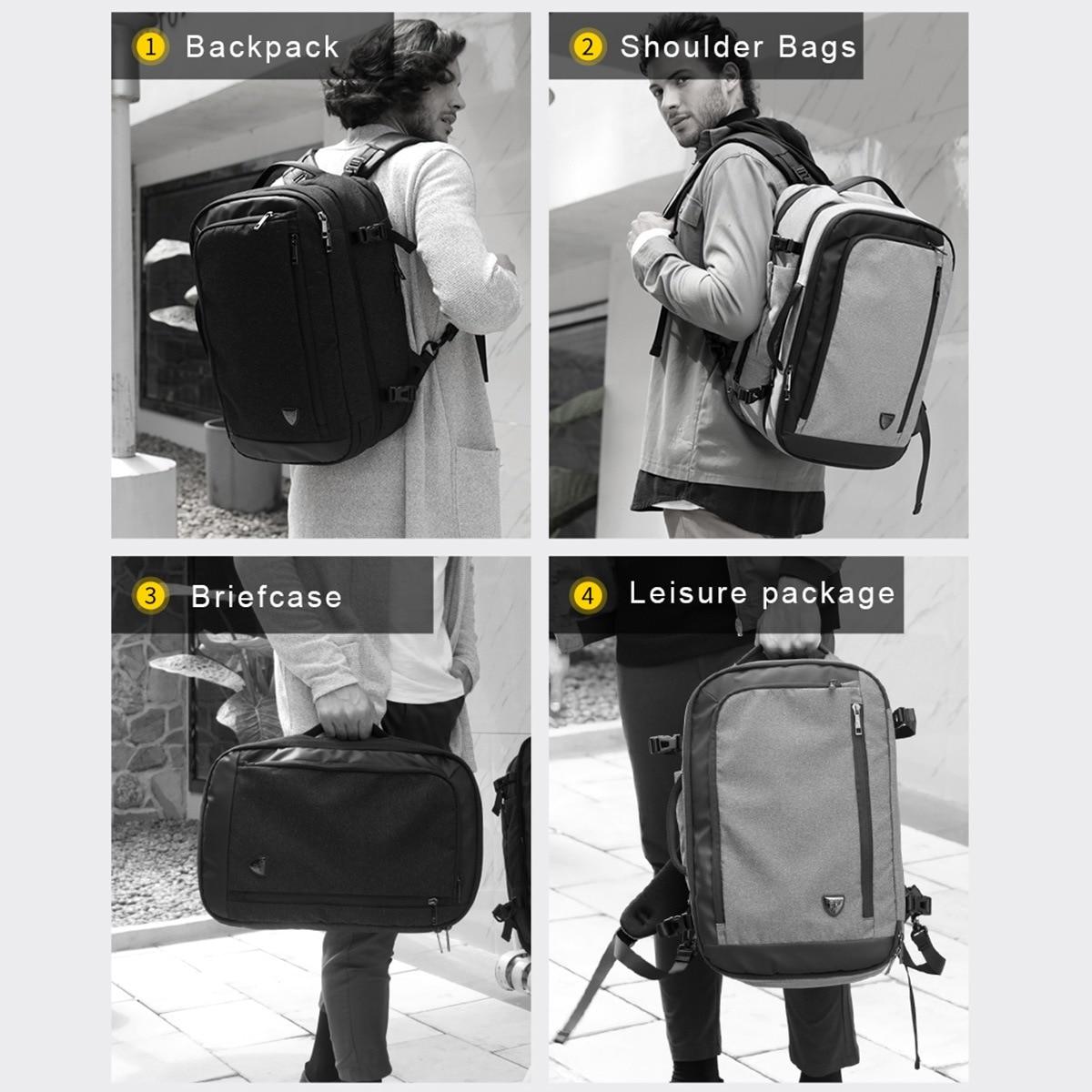 Arctique HUNTER multifonction 17 pouces sacs à dos d'ordinateur portable pour les hommes adolescents voyage sac à dos grande capacité décontracté Vintage nouveau