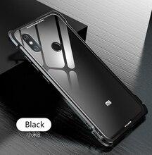 Xiaomi Mi 8 Mi8 Pro Bumper Xiaomi8 Clear Tempered Glass Back Cover with Metal Bumper Frame Case for Xiaomi 8 Mi 8 Explorer все цены