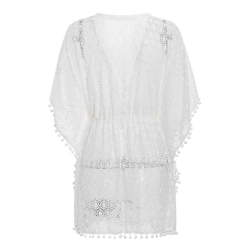 Bikinx Tassel White Bikini Cover Up Summer 2019 Fashion Beach Dress Women Tunic Sexy Swimsuit Cover Ups Female Sarong Kimono New Aliexpress