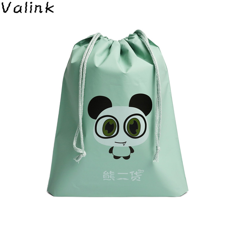 Cartoon Drawstring Bag Waterproof PEVA Travel Bag Durable Large Capacity Of Unisex Clothing Sorting Organize Bag Organizador