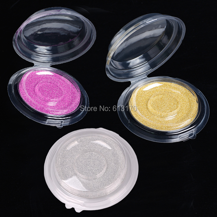 50/100 stks Wegwerp Lege Clear Ronde Valse Wimpers Storage Case, DIY Elegante Fake Wimpers Blister Pakket, oogmake-up Tool