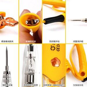 Image 5 - Stylo de détection de crayon de test de ligne de circuit de voiture universel 12v 24v, lumière de test multifonction pour véhicule, électroscope