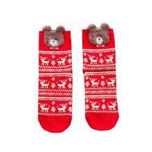 Christmas Cotton Sock Women Casual Sport Breathable Solid Color Red Harajuku Cartoon Cute Kawaii Funny Animal Puppies Print