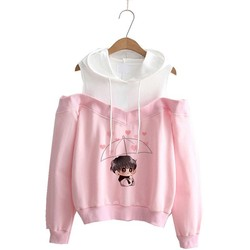 Hoodie kpop Hoodies Women Femele Pullover cartoon Sweatshirts For female k pop Highstreet K-pop Hooded 11