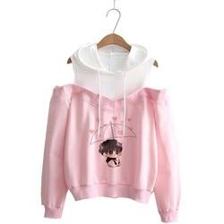 Hoodie kpop Hoodies Women Femele Pullover cartoon Sweatshirts For female k pop Highstreet K-pop Hooded 5