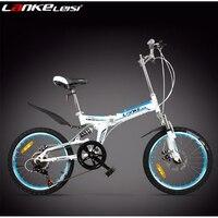 Venividivici 20 inch 7 speed disc brake Folding bike Shock front Aluminum frame alloy ring fork Adult mini mountain bicycle