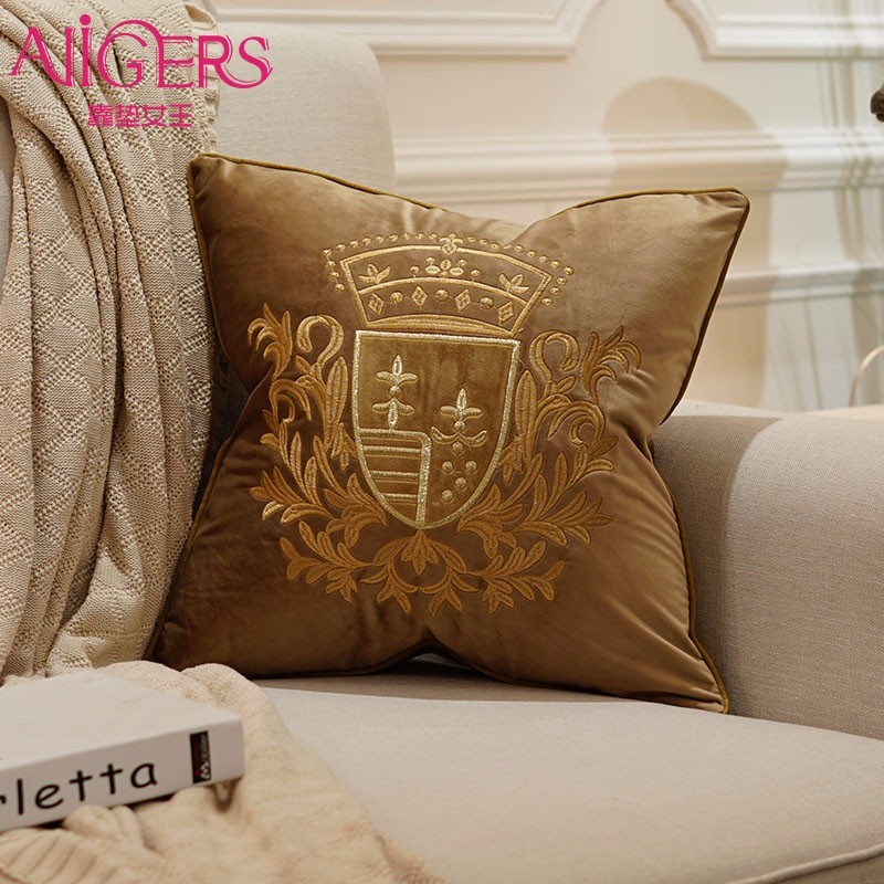 Avigers Embroidery Velvet Cushion Cover Luxury European Pillow Cover PillowCase Geometry Home Decorative Sofa Chair Throw Pillow in Cushion Cover from Home Garden