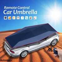 Автоматическое Дистанционное Управление автомобиля Зонт тент Обложка внедорожник солнцезащитный, для грузовика водонепроницаемый тент ш