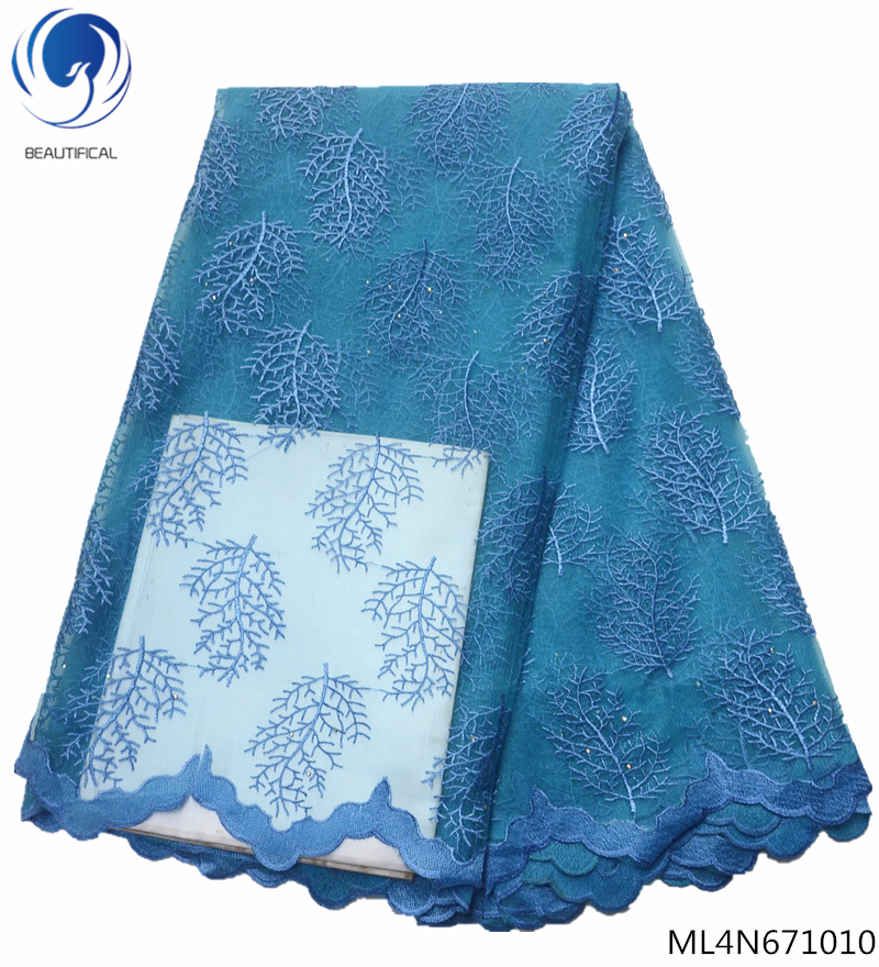BEAUTIFICAL embroidered lace fabric french lace fabric for dresses african french lace fabric high quality 5yards