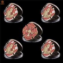 5 шт. Американский пожарно-спасательный персонал США металлический пожарный вызов Памятная коллекция монет значение