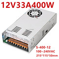 400W 33A 12V блок питания 12V централизованного источника AC-DC 110 -230VAC S-400-12 DC12V - фото