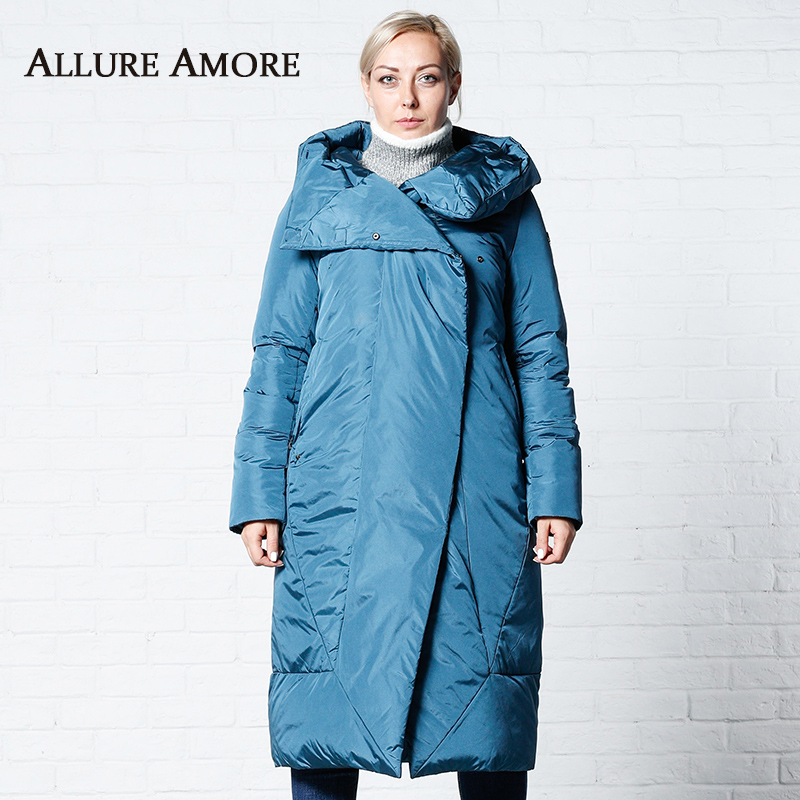 Winter Jackets Women New Women's   Parka   Female Long Jacket hooded Woman Coat Puffer 2019 Winter Coats With Belt AllureAmore