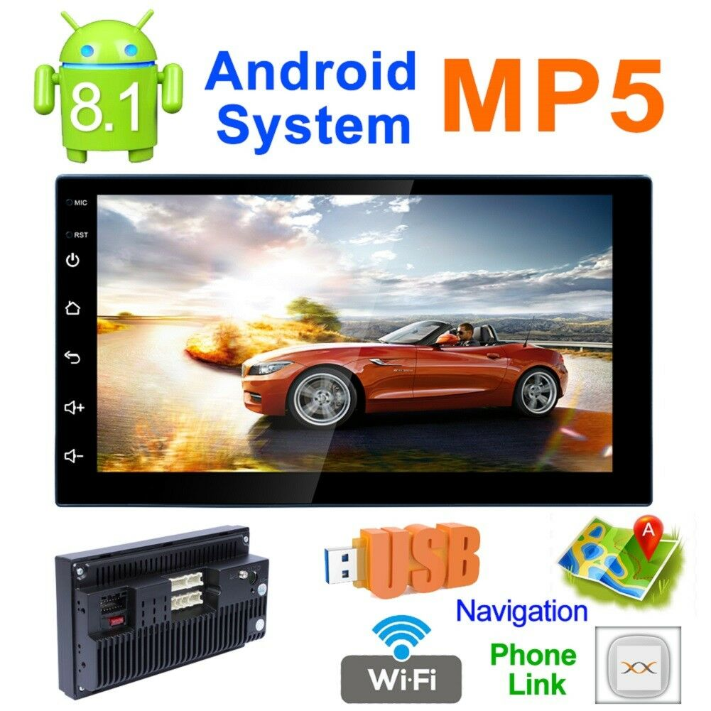 Autoradio stéréo 7 pouces Bluetooth MP5/GPS/TV/TF/AUX IN/EQ/AV IN/DVR/WIFI/Android
