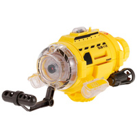 Mini RC Submarine Infrared Control SpyCam Aqua RC Submarine Unique Feeding Device With 0.3 MP Camera and Led Light RC Toys