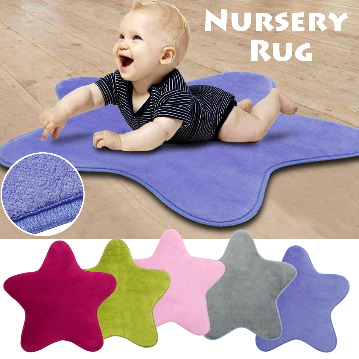 Star Kids Play Mat Baby Rug Anti Slip Comfortable Floor Cotton Crawl Carpet Nursery Rug For Children Room Decoration HomeTextile | Happy Baby Mama