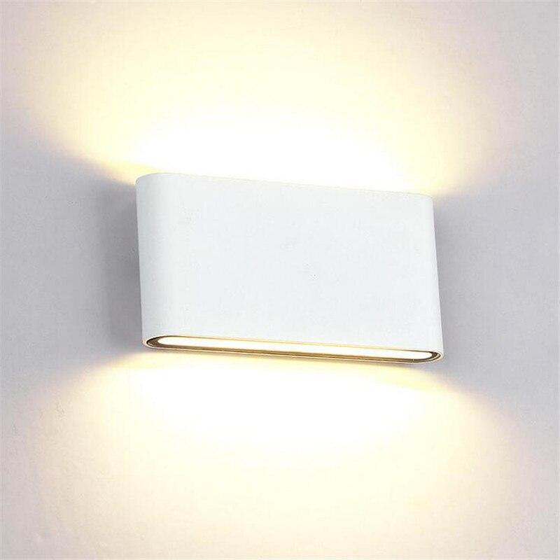 Алюминиевый 8W 14W COB светодиодный настенный светильник AC110V 220V 100lm/W с регулируемой яркостью светодиодный настенный светильник для внутреннег
