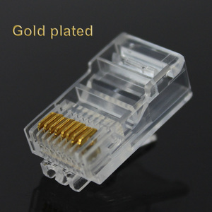 Image 3 - 20/50/100PCS Cat6 Cat6e RJ45 Ethernet Cables Module Plug Network Connector RJ 45 Crystal Heads Gold Plated Network Cable OULLX