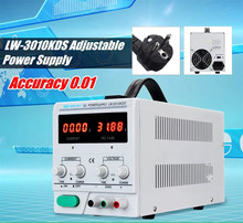 Long Wei LW-3010KDS Adjustable Digital Tampilan DC Power Supply 110 V/220 V 0-30 V 0-10A Switching regulated Power Supply(China)