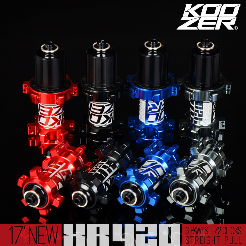 KOOZER XR420 front rear hub 24 holes bicycle hubs quick release 4 bearings 6 pawls 72 clicks straight pull MTB mountain bike image