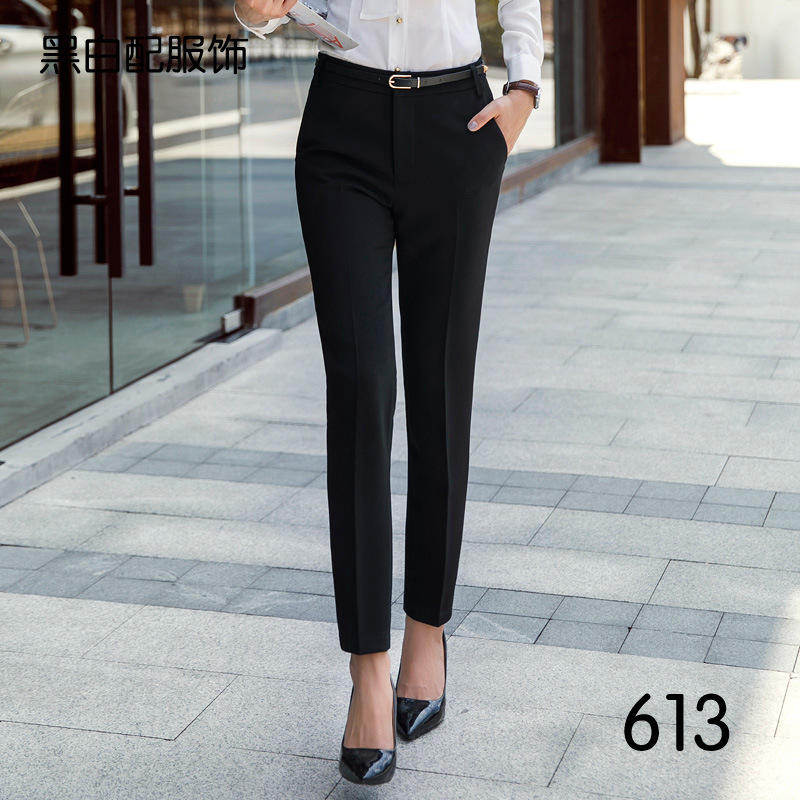 Autumn Women Pencil Pants Mid Waist Ladies Office Trousers Formal Female Slim Bodycon Cigarette Skinny Feet Pantalones Mujer