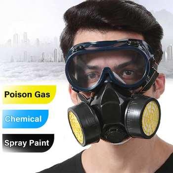 çift Kartuş Toz Koruyucu Maske Yeni Yarım Yüz Gaz Maskesi Ile Göz