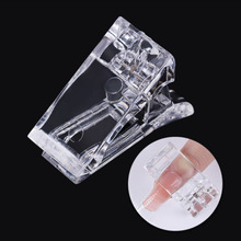 Sale Nail Art Fast Tips Extension Glue Popular Transparent Fixing Mold Clip Tool