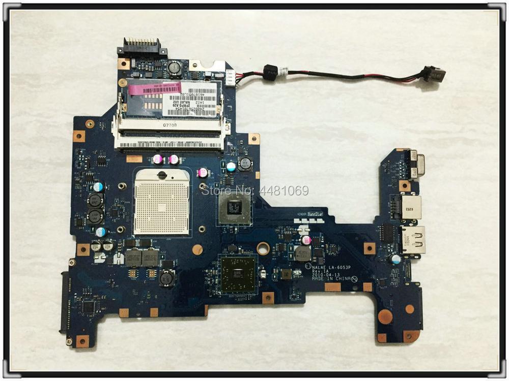 LA 6053P for Toshiba L670D L675D NOTEBOOK K000103970 NALAE LA 6053P motherboard DDR3 K000103980 Fully tested