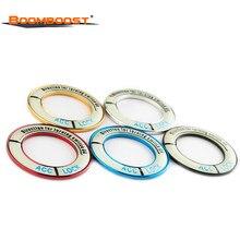 Für Mazda/Regal/Encore Leucht 3 6 Auto Teile Glühende Auto Zündung Schalter Abdeckung 3D Aufkleber Aluminium Legierung 5 farben