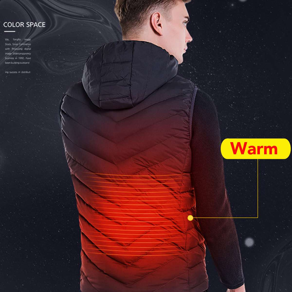 Blue USB Heated Vest Safety Intelligent Thermostatic Heating Vest Keep Warm Outdoors Winter L/XL/XXL/XXXL/4XLBlue USB Heated Vest Safety Intelligent Thermostatic Heating Vest Keep Warm Outdoors Winter L/XL/XXL/XXXL/4XL