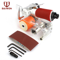 Air Belt Sander Pneumatic Grinding Machine Stainless Steel Wire Drawing Polishing Derusting Industrial Grade Tool