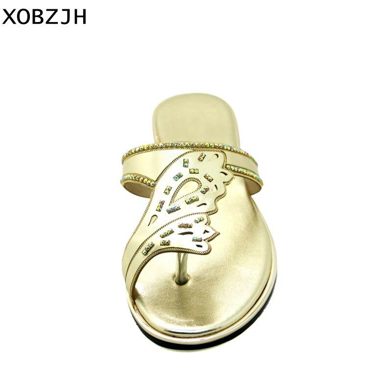 Nouveau Bronze De Flip Flops 2019 Sandales Luxe La Ouvert Xobzjh OPZkXiu