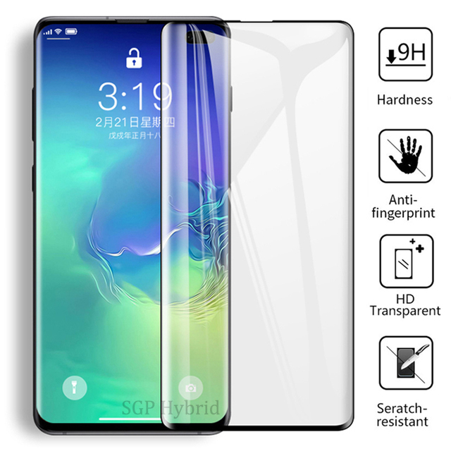 9D Curved Tempered Glass On The For Samsung Galaxy S9 Plus Cover Protective Glas For Galaxy S10 e S8 Plus S 10 9 8 Note 9 8 Sklo