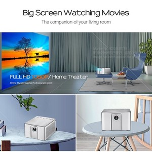 Image 3 - AUN Full HD projektör J20, 1920*1080P, Android WIFI, 10000mAH pil, taşınabilir DLP projektör. Destek 4K 3D Beamer