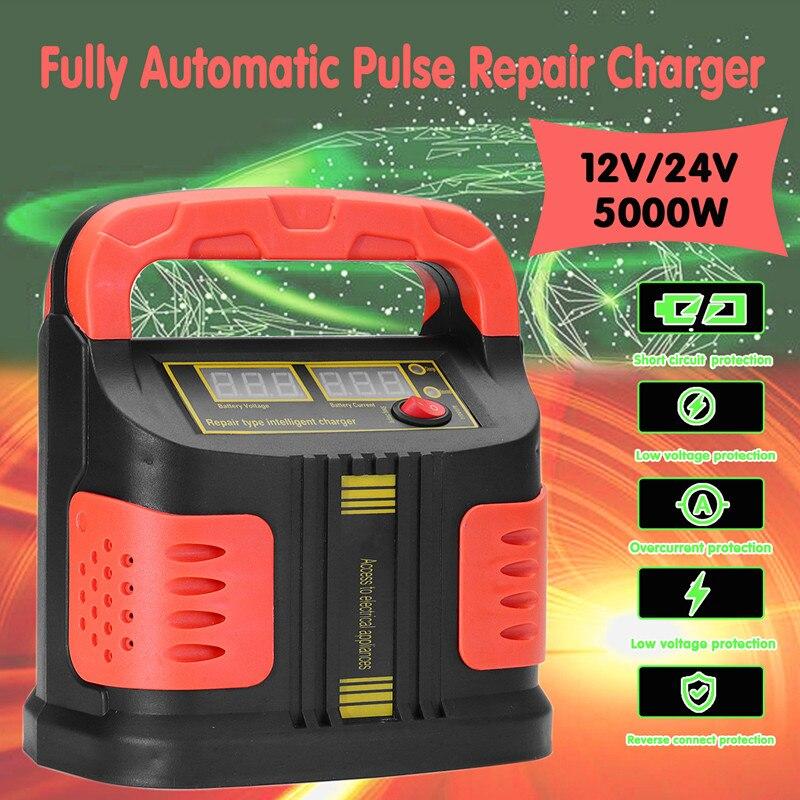 Lecteur Automatique De poche 12/24 v 5000 W De Voiture chargeur De Batterie Jump Starter EmergencyCharger Booster De La Banque D'alimentation Automatique De réparation