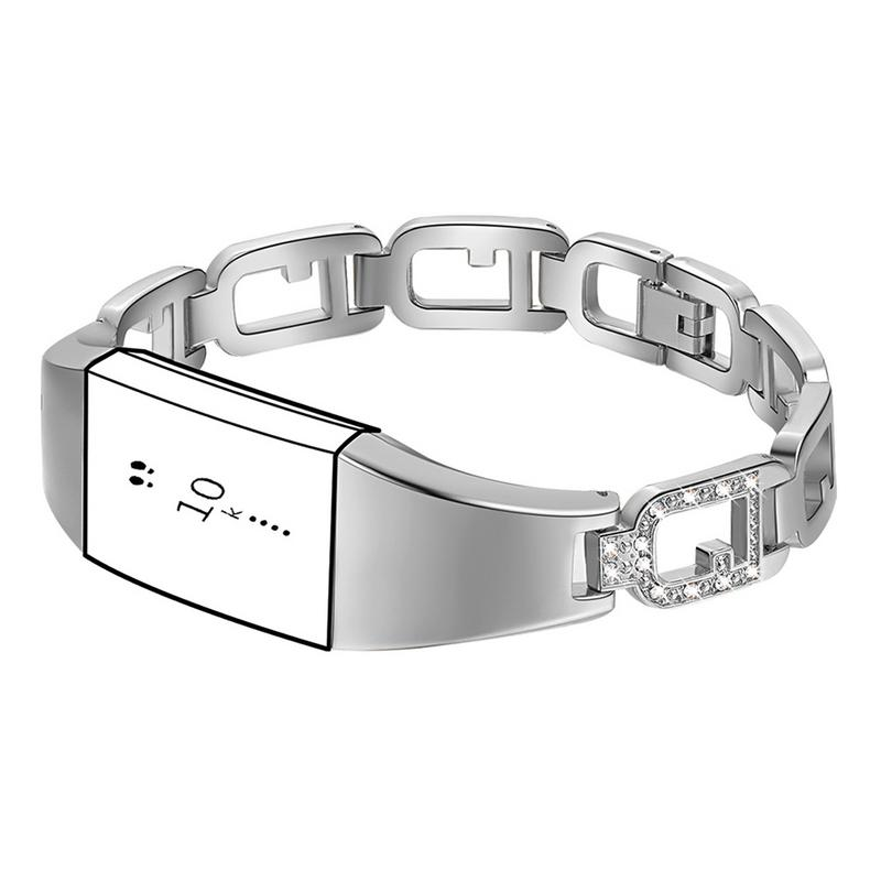 Zinc Alloy Watchband Smart Watch Bracelet Durable Scratch Resistant Adjustable Wristband Bracelet With Diamond Large Ring Strap-in Smart Watches from Consumer Electronics