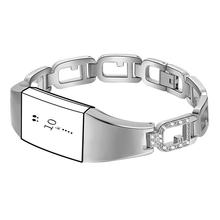 Zinc Alloy Watchband Smart Watch Bracelet Durable Scratch Resistant Adjustable Wristband Bracelet With Diamond Large Ring Strap