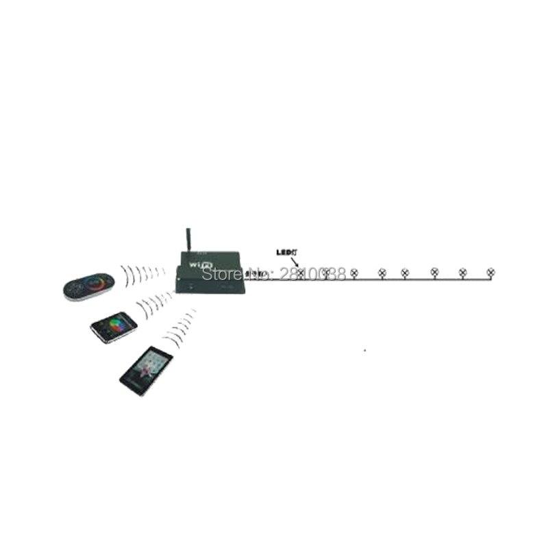 2 pçs/lote DC 5 24V SPI SPI levou controlador sem fio controlador de Wi fi levou controlador SPI para led digital luzes de tira - 2