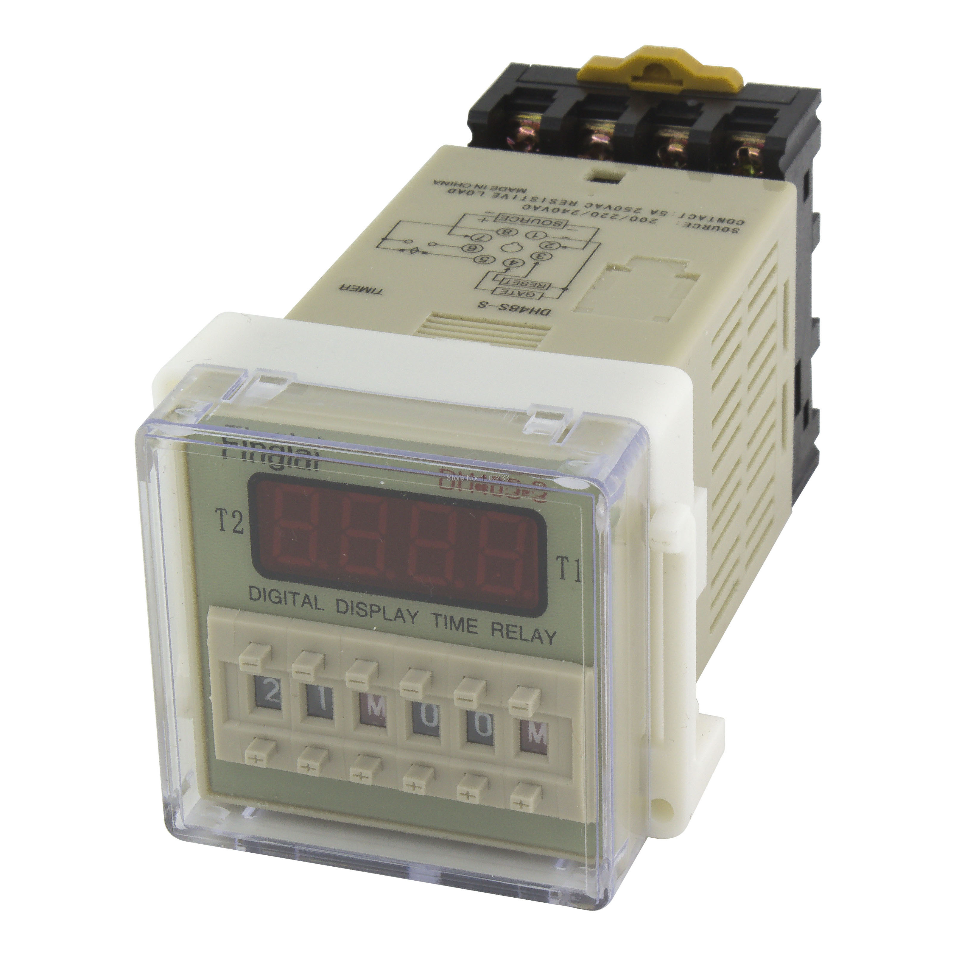 US $4.28  DH48S S repeat cycle SPDT time relay with socket DH48S series on