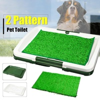 Portable Pet Dog Potty Toilet Grass Mat Pad Patch Dogs Cat Litter Boxes With Lawn Indoor Potty Trainer Grass Turf Pad Pet Supply