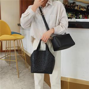 Image 5 - حقيبة ياسيكايدي النسائية الصيفية لعام 2019 PU حقيبة نسائية أنيقة مكونة من قطعتين حقيبة كتف عصرية بسيطة