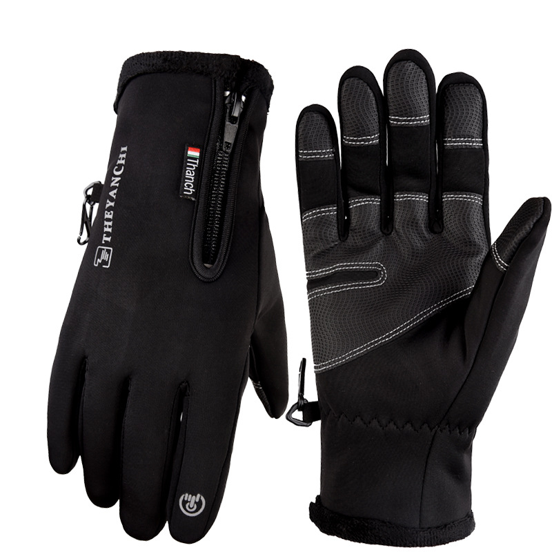 Unisex Thermal Warm Full Finger Gloves Cycling Riding Touch Screen Mittens M-XL