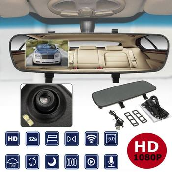 "2.4"" 720P HD Rearview Smart Mirror Camera Monitor Dashboard Cam DVR Recorder"