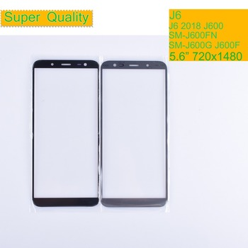 50Pcs/lot For Samsung Galaxy J6 2018 J600 J600F SM-J600F/DS SM-J600G/DS Touch Screen Outer Glass TouchScreen Lens LCD Front