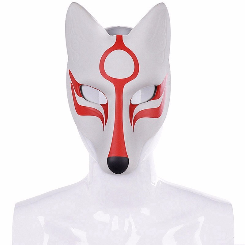 Unisex Masquerade Expo 3D Pu White Fox Masks Anime Accessories  Adult Christmas Halloween Carnival Party Cosplay Animal Props