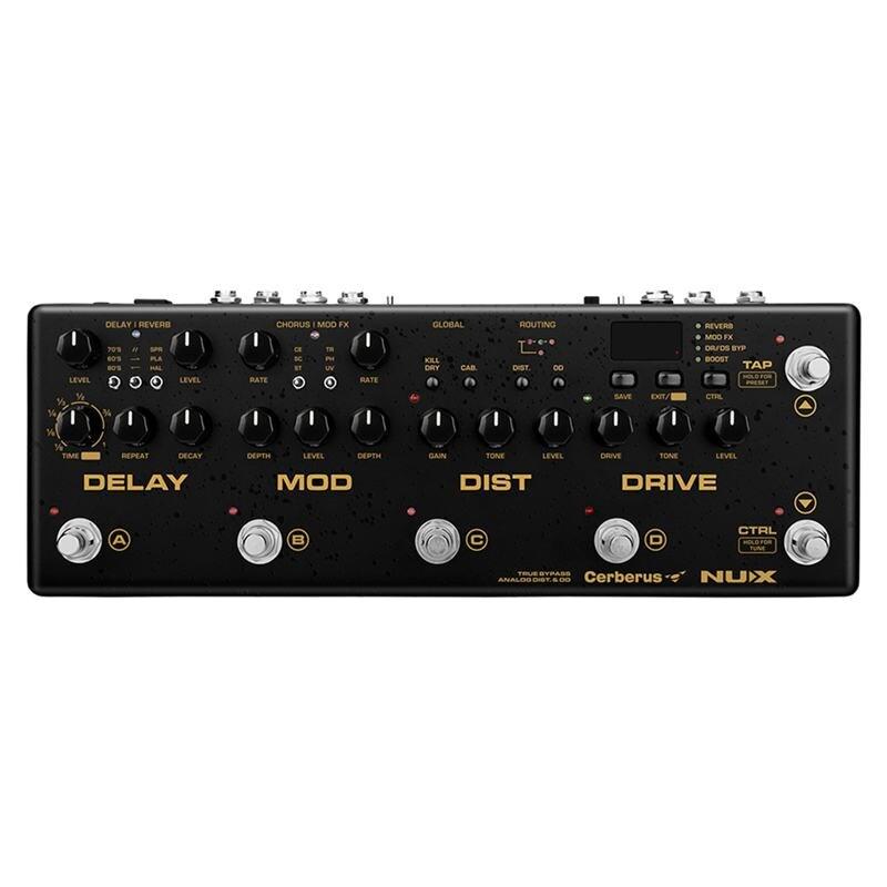 ABGZ-NUX Cerberus Multi effet de guitare retard de pédale effets de Modulation de distorsion d'overdrive à l'intérieur du routage chargeur IR 4 câble rencontré