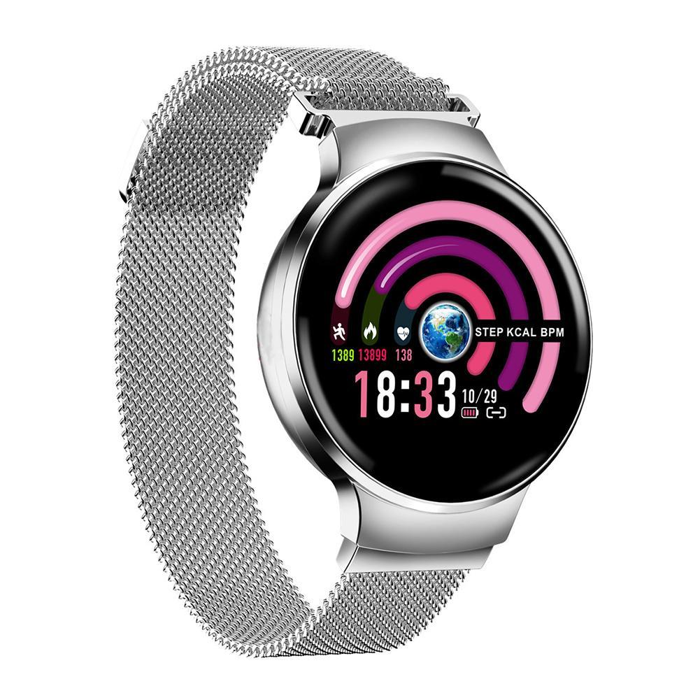 H5 montre femme Bluetooth Fitness Tracker couleur écran tactile étanche avec Bracelet intelligent de suivi de la fréquence cardiaque toute la journée