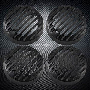 Image 1 - New 2 x Pair Black Alloy Turn signal Lights Trim Grills Caps Fit For Royal Enfield Classic 500 Serises Models