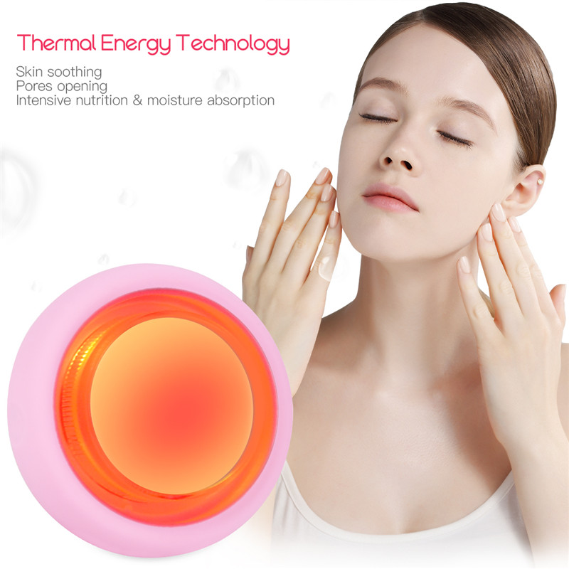 2 In 1 Sonic Face Cleaning Brush Smart Mask LED Light Therapy Vibration Face Mask Importer Facial Care Massager Pore Cleaner 46